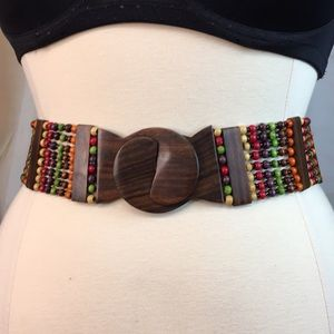 Wood Beaded Belt